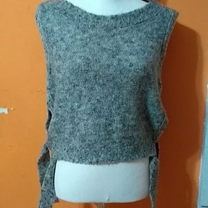 NWT Max Studios wool sweater vest w/side ties